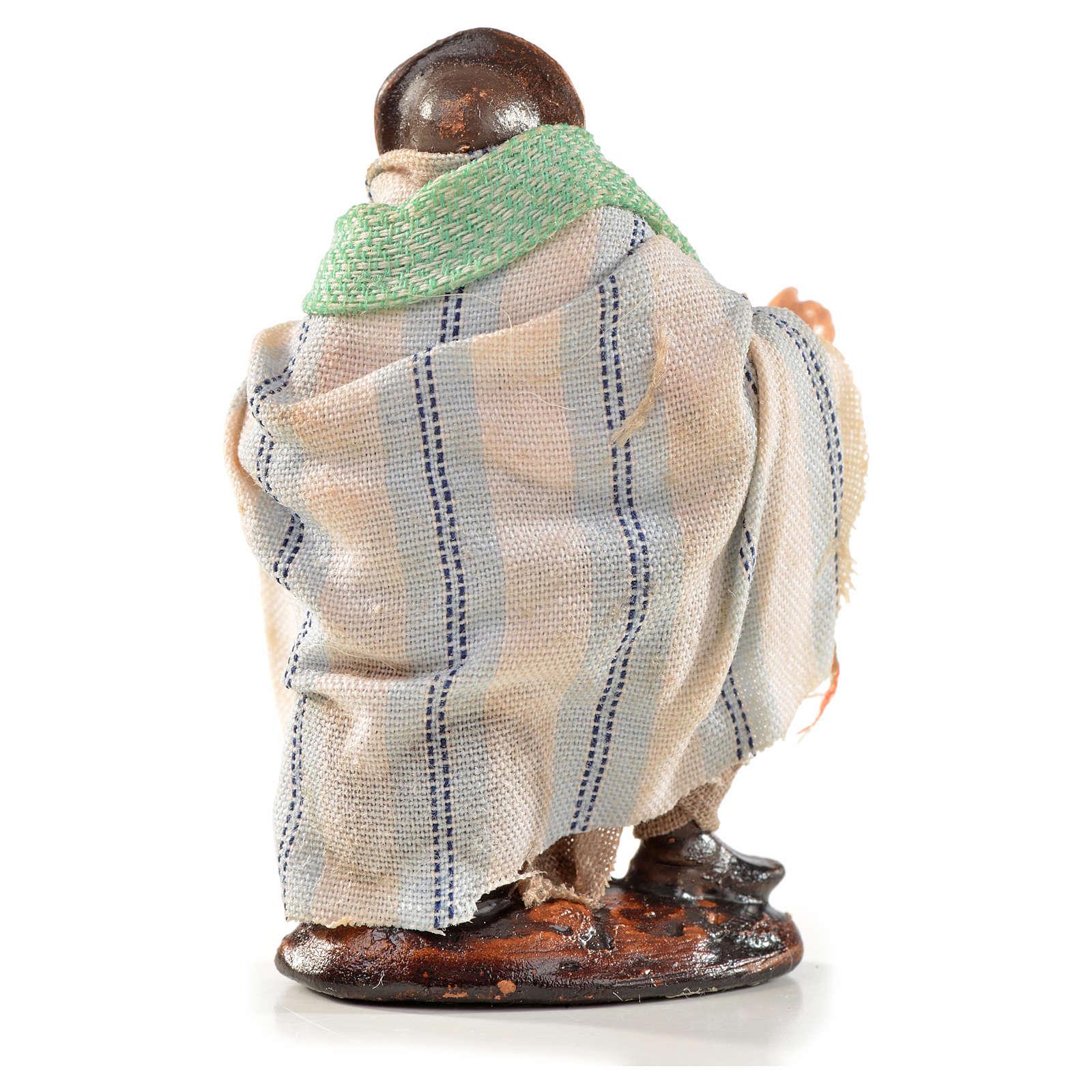 Neapolitan Nativity, Arabian style, man sitting 6cm 4
