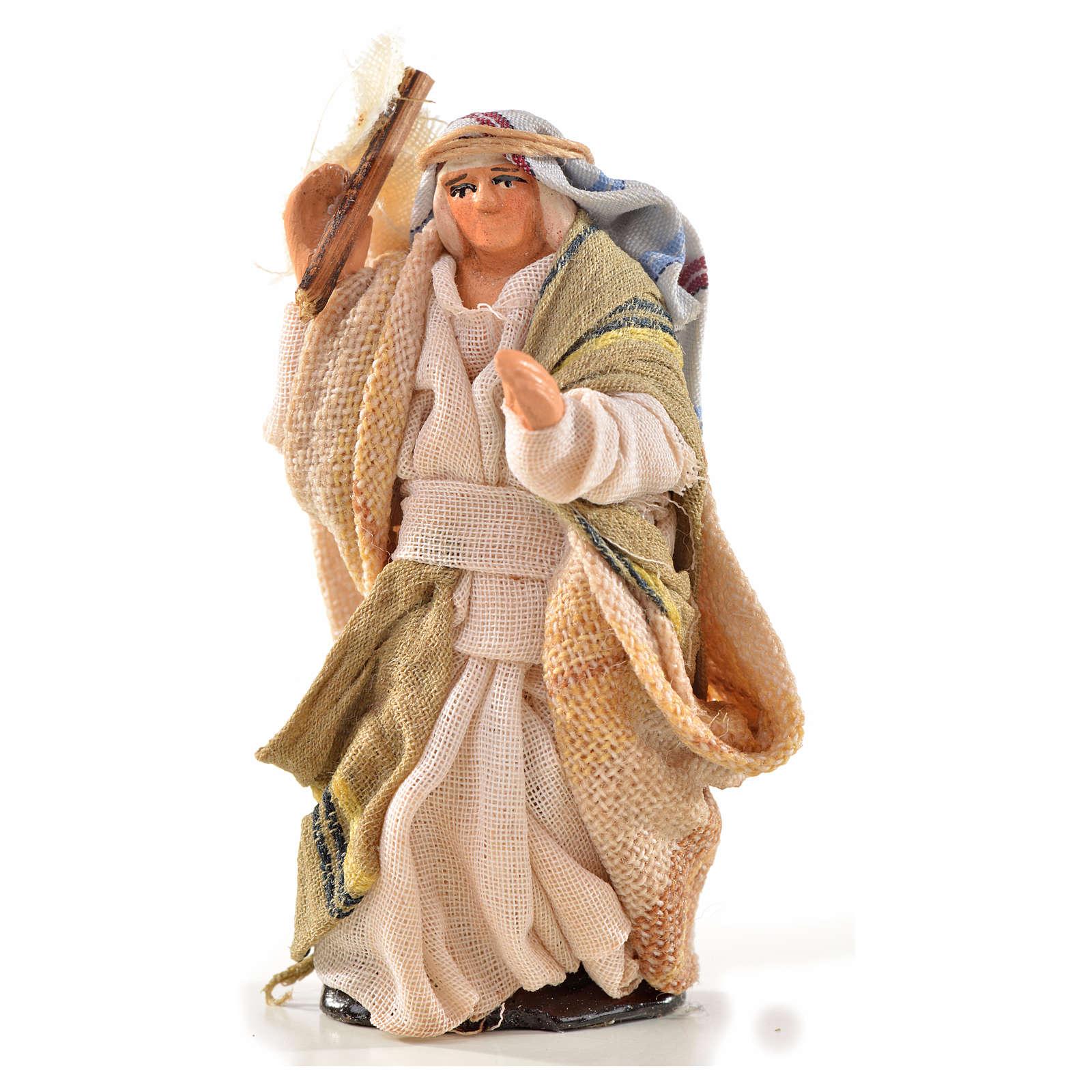 Uomo con sacco 6 cm presepe Napoli stile arabo 4