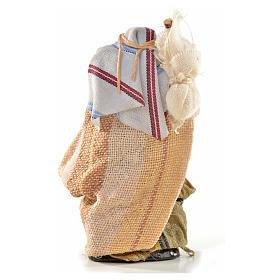 Uomo con sacco 6 cm presepe Napoli stile arabo s2