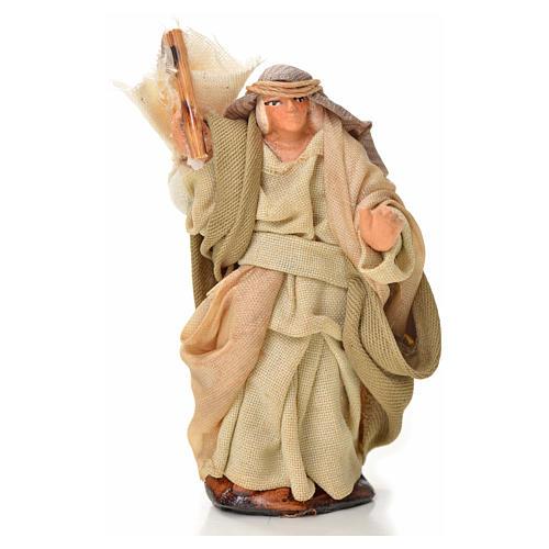 Neapolitan Nativity figurine, man with sack, 6 cm 1
