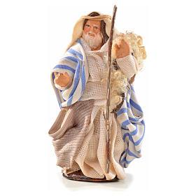 Uomo con bastone 6 cm presepe Napoli stile arabo s1