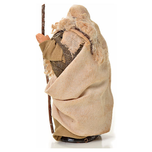 Neapolitan Nativity figurine, man with stick, 6 cm 2