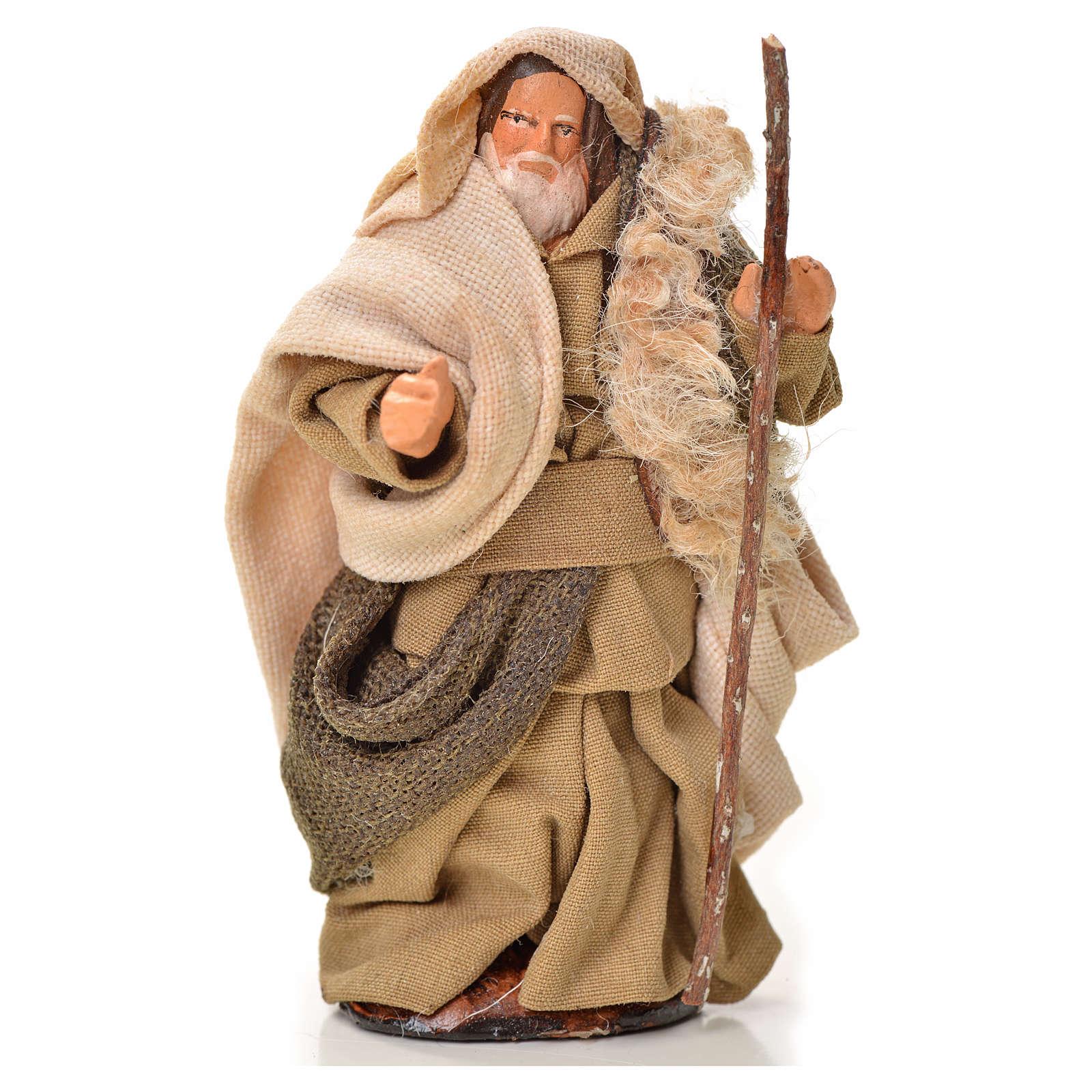 Uomo con bastone 6 cm presepe napoletano 4