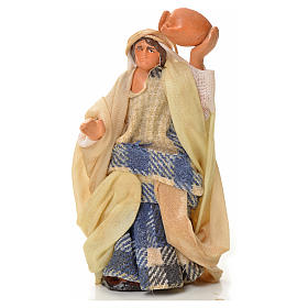 Neapolitan Nativity figurine, man with amphora, 6 cm s1