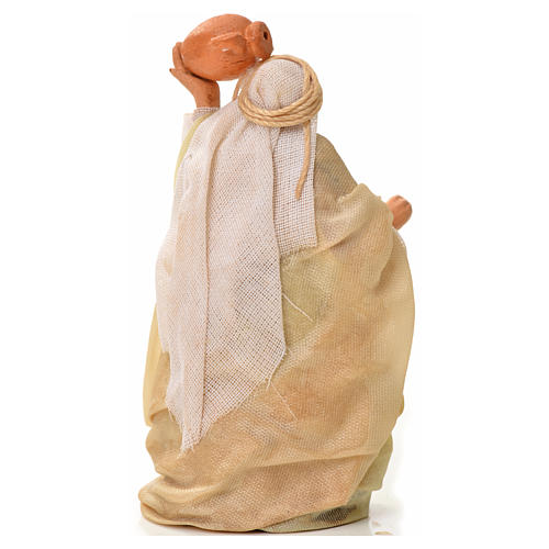 Neapolitan Nativity figurine, man with amphora, 6 cm 2