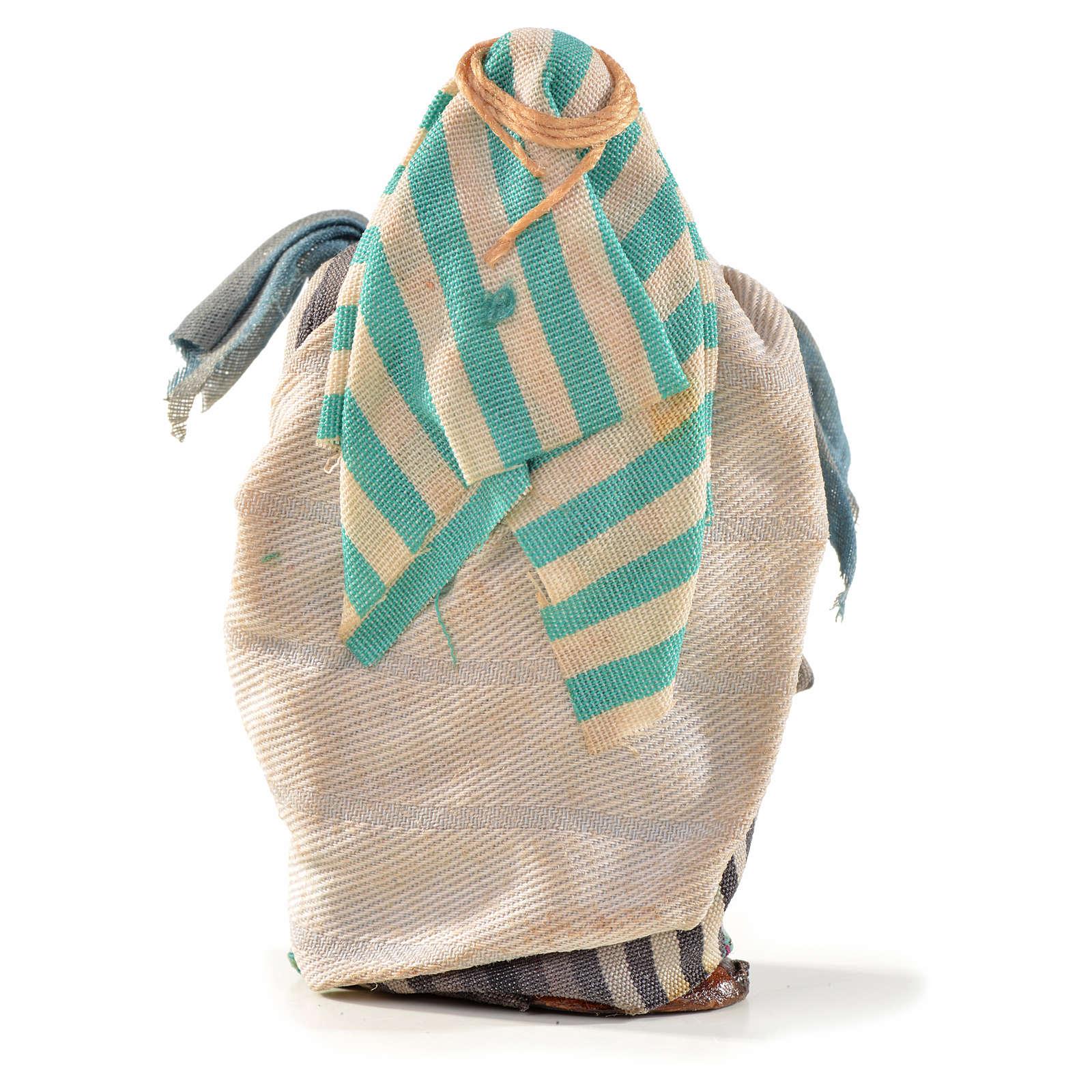 Vendedor com tecidos 6 cm presépio napolitano estilo árabe 4