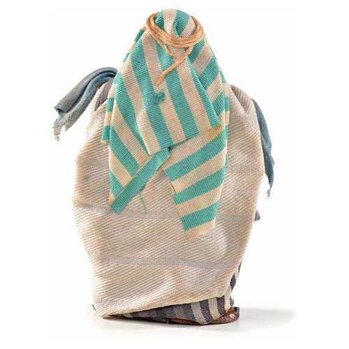 Vendedor com tecidos 6 cm presépio napolitano estilo árabe 2