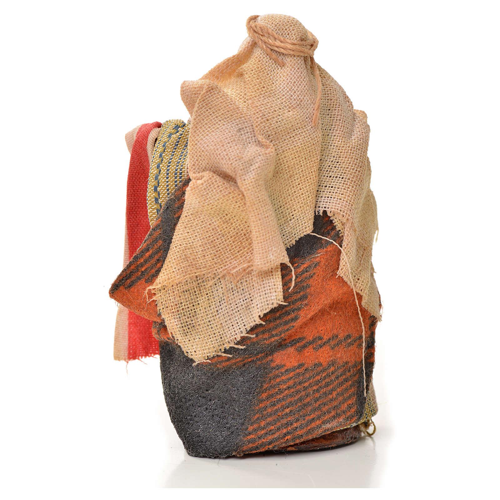Vendeur de tissus crèche Napolitaine 6 cm 4
