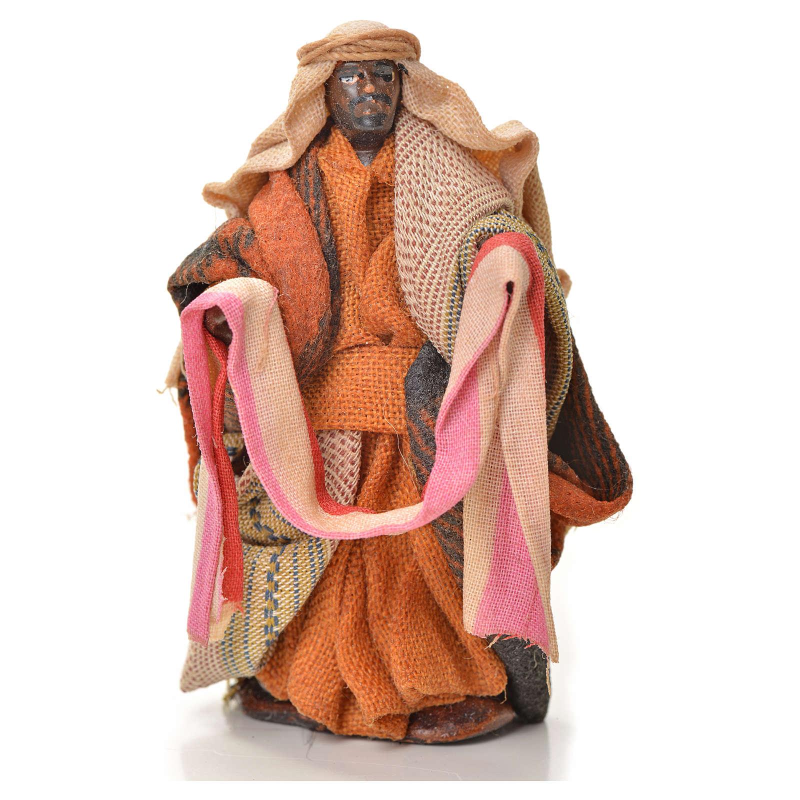 Neapolitan Nativity figurine, cloth seller, 6 cm 4