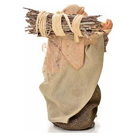 Neapolitan Nativity figurine, man with wood bundle, 6 cm s2