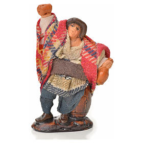Neapolitan Nativity Scene: Neapolitan Nativity figurine, drunkard, 6 cm