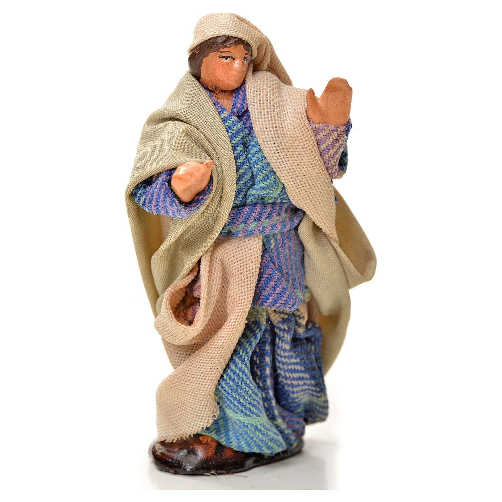 Neapolitan Nativity figurine, man walking, 6 cm 4