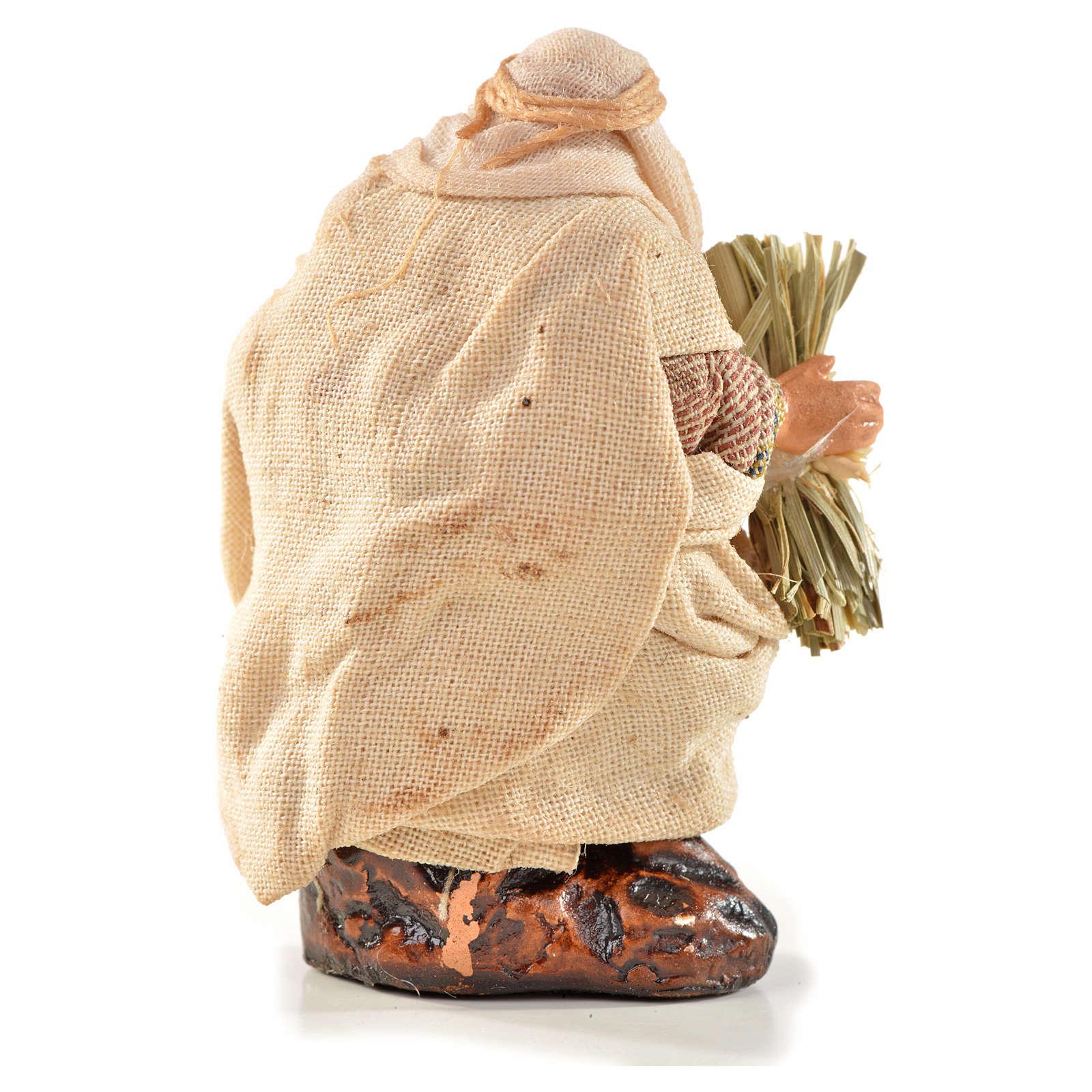 Neapolitan Nativity, Arabian style, man with hay 6cm 4