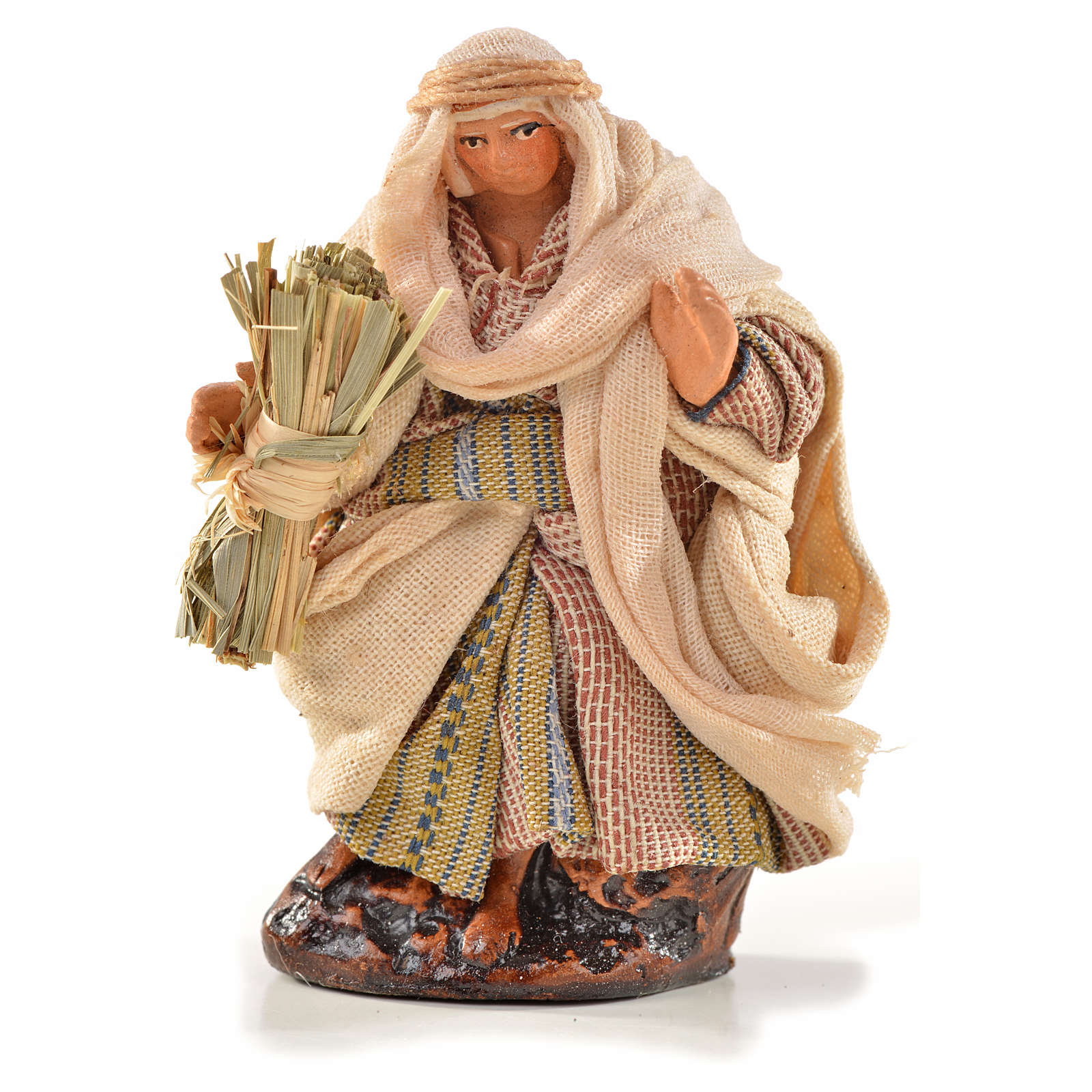 Neapolitan Nativity, Arabian style, man with hay 6cm 4
