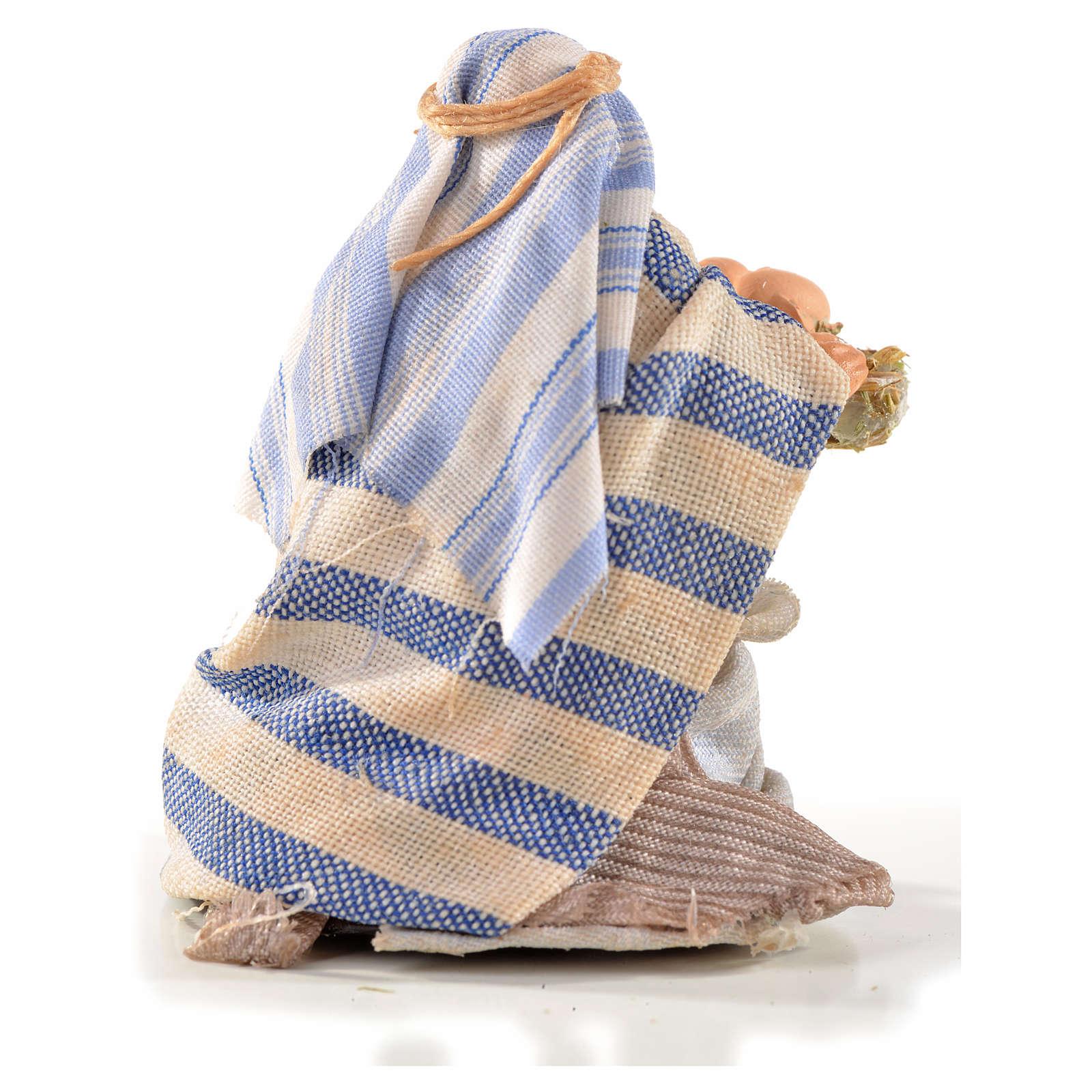 Homme arabe aux oeufs crèche Napolitaine 6 cm 4