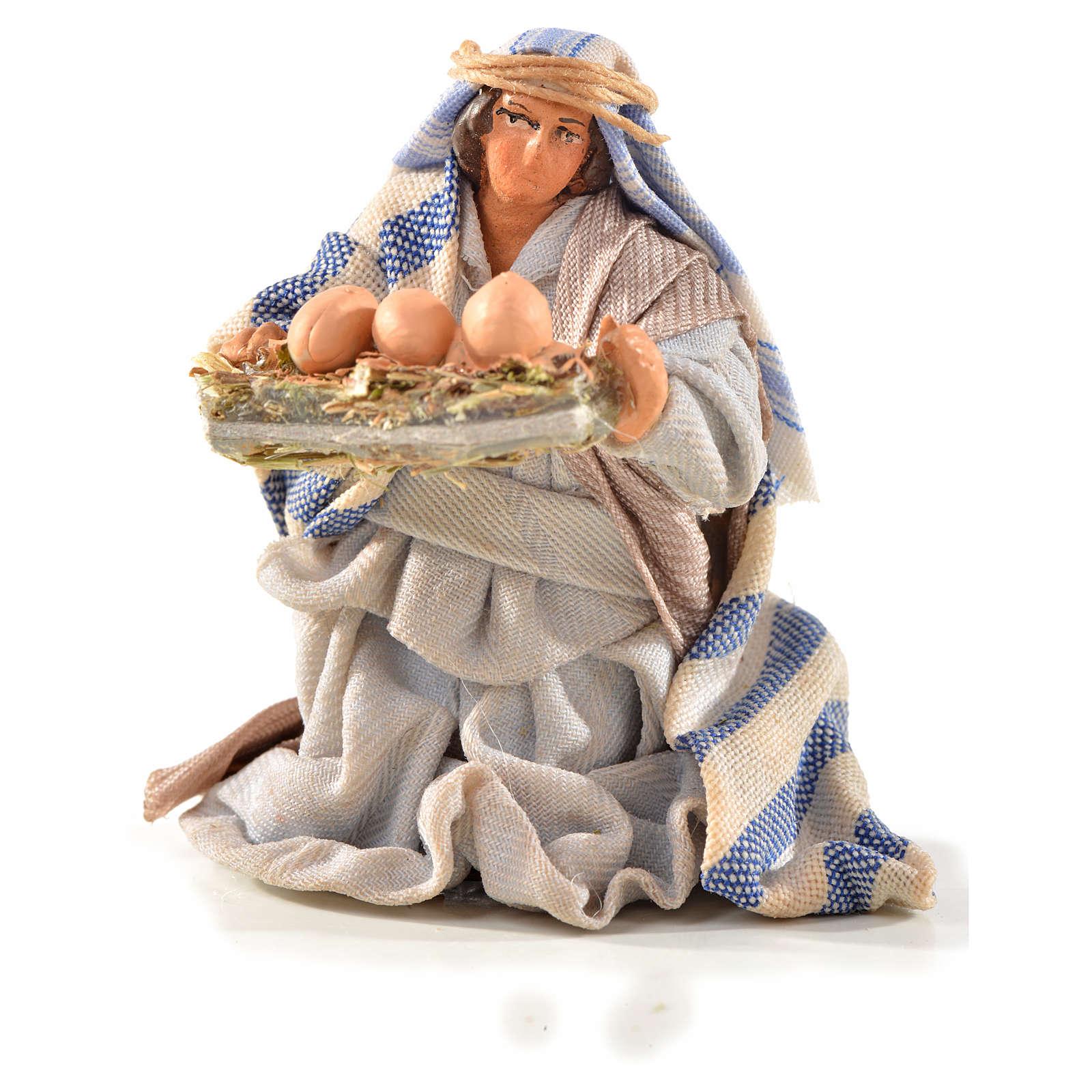 Uomo con uova 6 cm presepe Napoli stile arabo 4