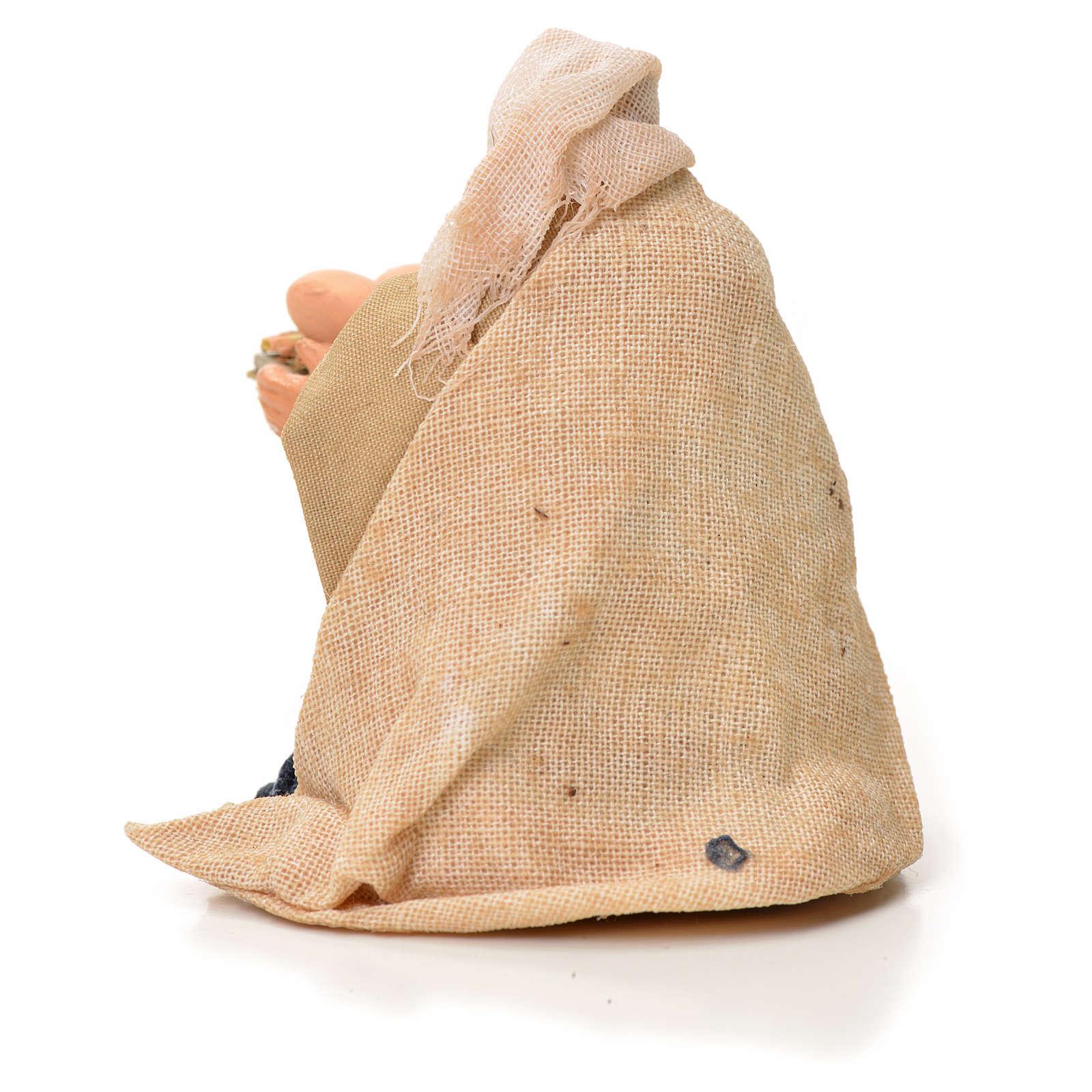 Mujer con cesta de huevos 6cm pesebre napolitano 4