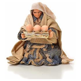Mujer con cesta de huevos 6cm pesebre napolitano s1