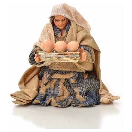 Mujer con cesta de huevos 6cm pesebre napolitano 1