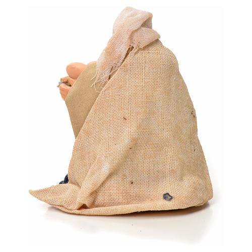 Mujer con cesta de huevos 6cm pesebre napolitano 2