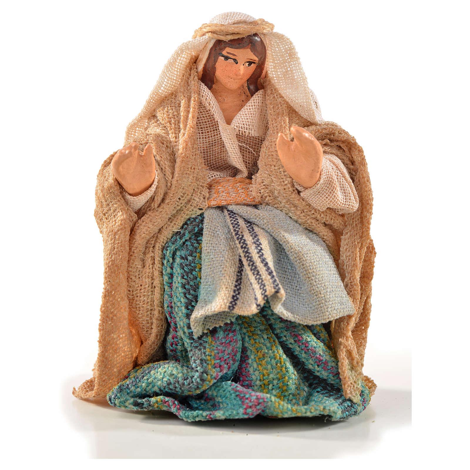 Donna seduta 6 cm presepe Napoli stile arabo 4