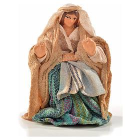 Donna seduta 6 cm presepe Napoli stile arabo s1