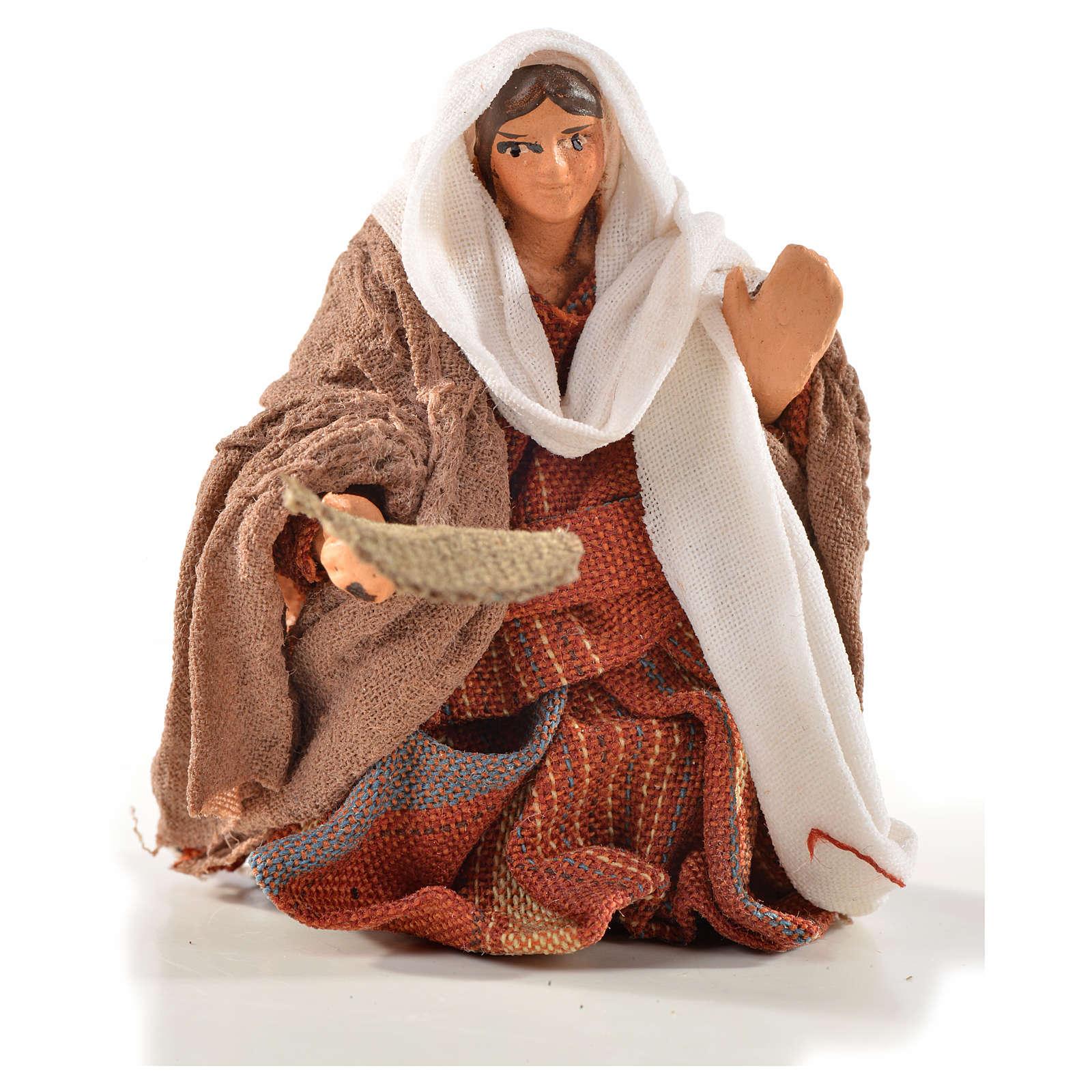 Donna mendicante 6 cm presepe Napoli stile arabo 4