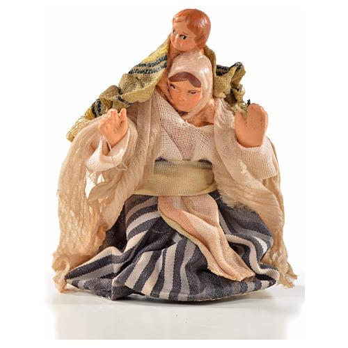 Femme arabe et enfant en bras crèche Napolitaine 6 cm 1