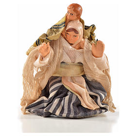 Neapolitan Nativity, Arabian style, woman with baby on shoulders s1