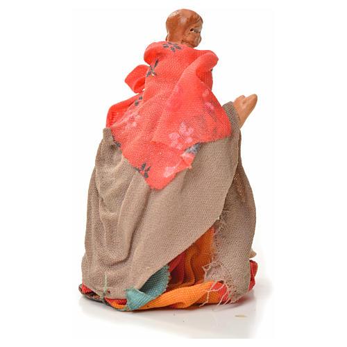 Mujer con niño en la espalda 6cm pesebre napolitano 2