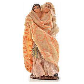 Femme arabe et son enfant crèche Napolitaine 6 cm s1