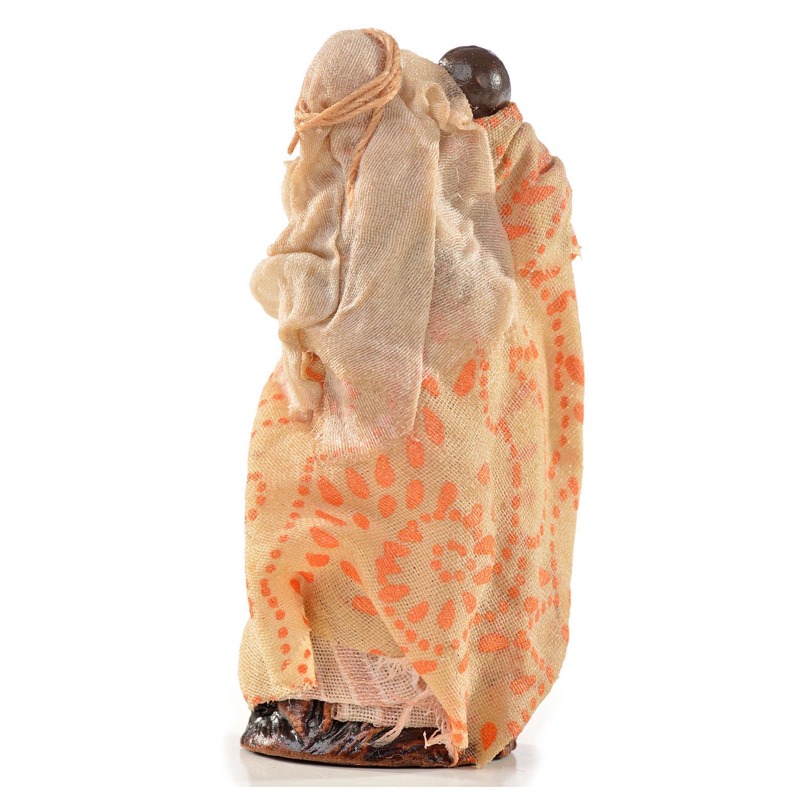 Neapolitan Nativity, Arabian style, woman holding baby 6cm 4