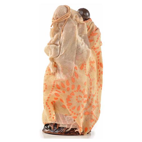 Neapolitan Nativity, Arabian style, woman holding baby 6cm 2