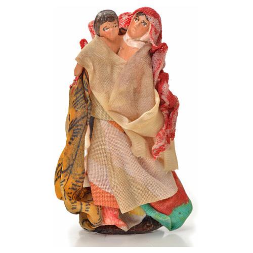 Donna bambino in braccio 6 cm presepe napoletano 1