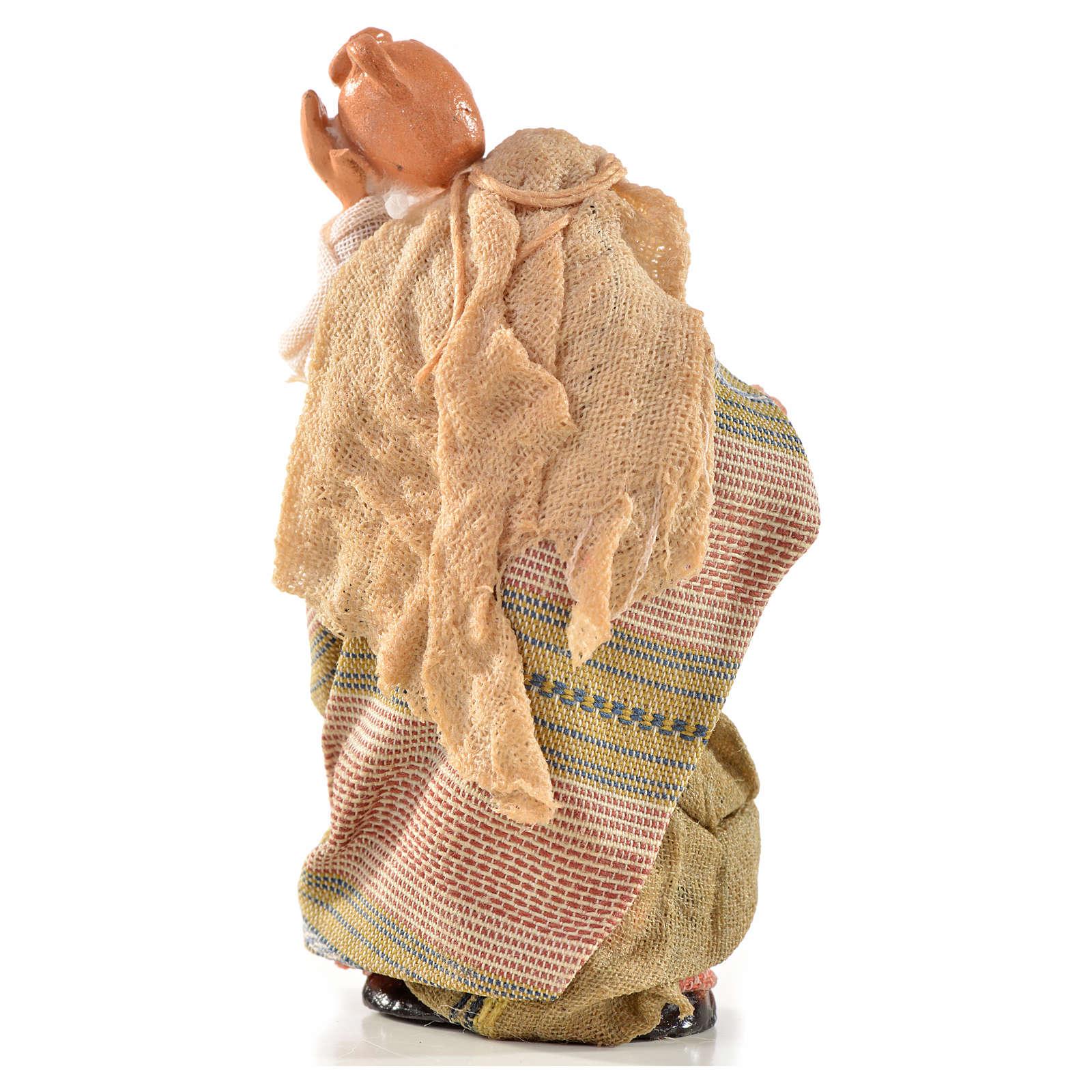 Donna con brocca 6 cm presepe Napoli stile arabo 4