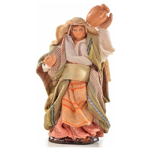 Donna con brocca 6 cm presepe Napoli stile arabo 1