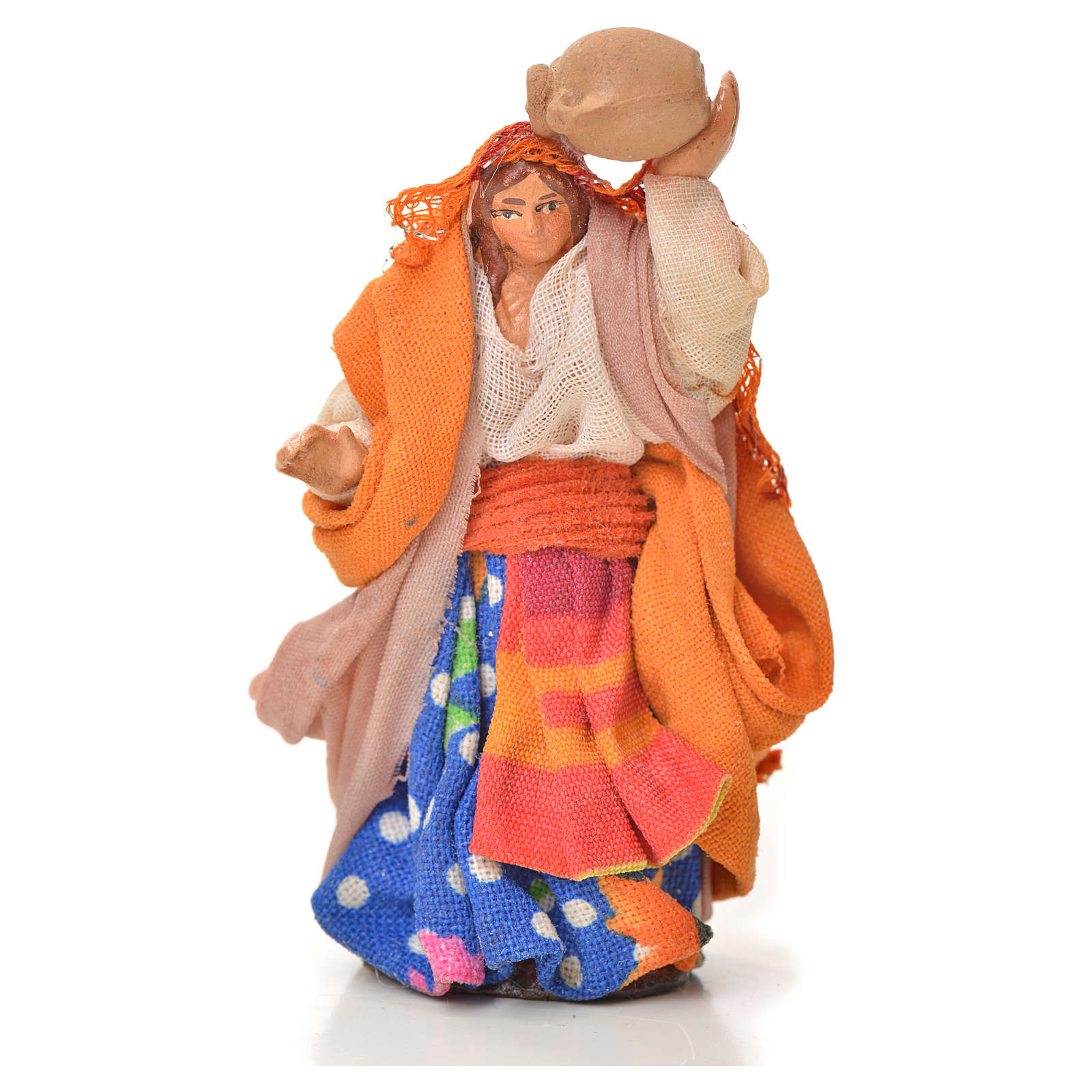 Neapolitan Nativity figurine, woman with amphora, 6 cm 4