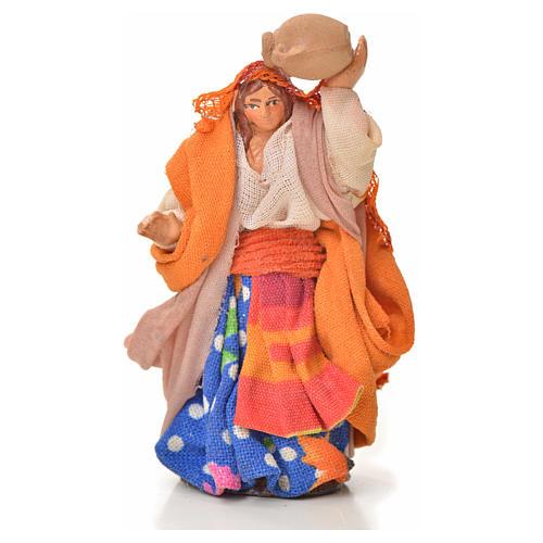 Neapolitan Nativity figurine, woman with amphora, 6 cm 1