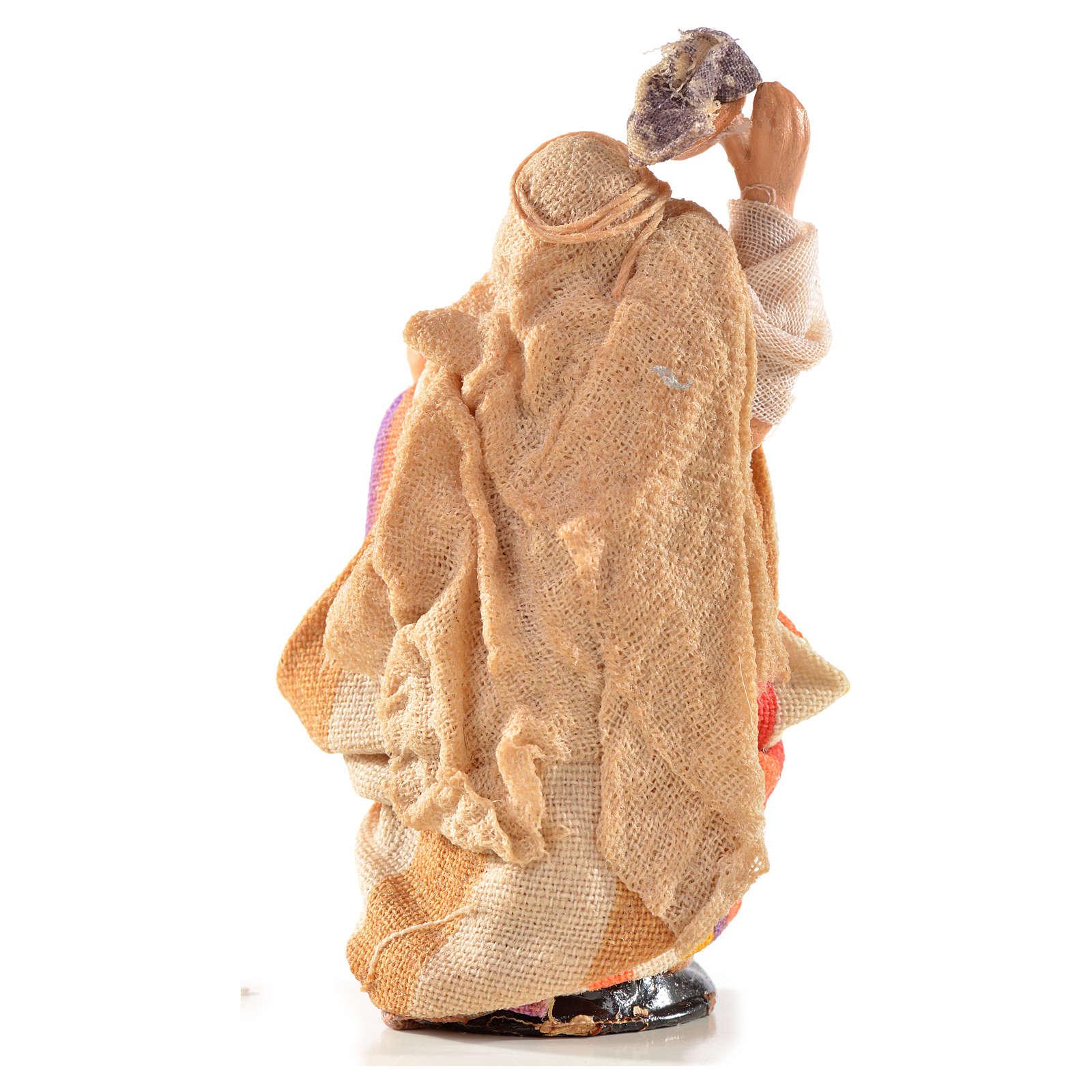 Mujer con ropa en la cabeza 6 cm. belén Napolitano estilo 4