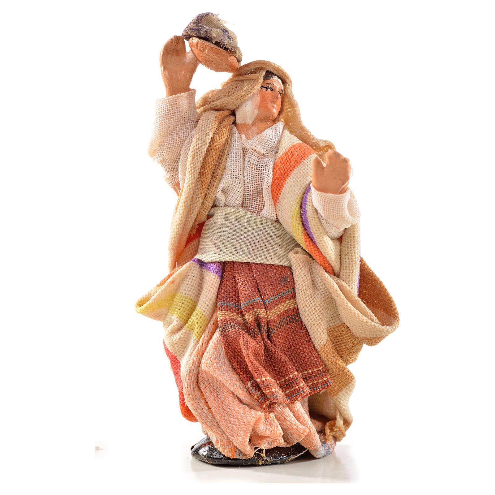 Donna panni in testa 6 cm presepe Napoli stile arabo 4