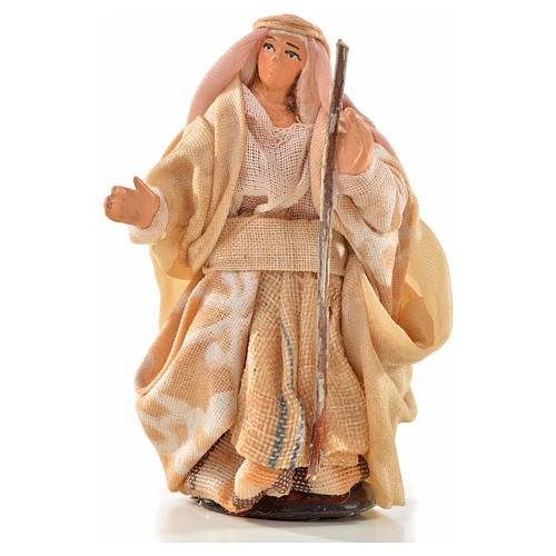 Donna con bastone 6 cm presepe Napoli stile arabo 1