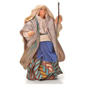 Neapolitan Nativity Scene: Neapolitan Nativity figurine, woman with stick, 6 cm