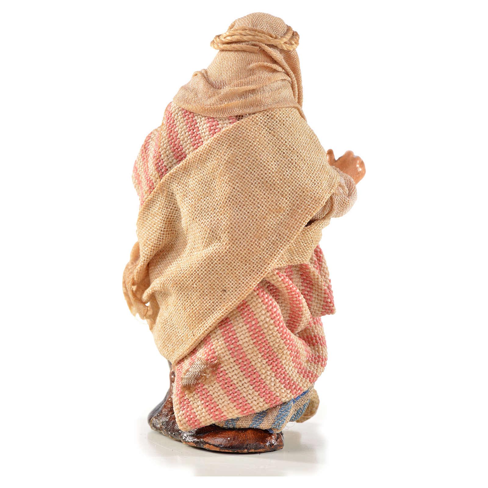 Neapolitan Nativity, Arabian style, woman carrying water 6cm 4