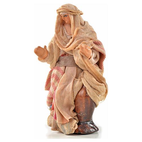 Neapolitan Nativity, Arabian style, woman carrying water 6cm 1
