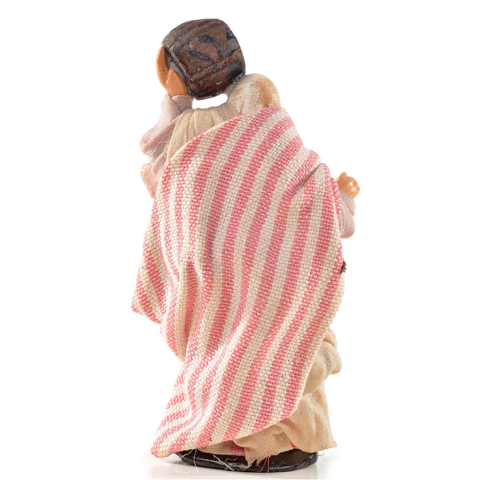 Donna con botte 6 cm presepe Napoli stile arabo 4