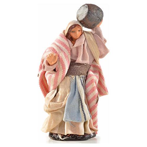 Donna con botte 6 cm presepe Napoli stile arabo 1