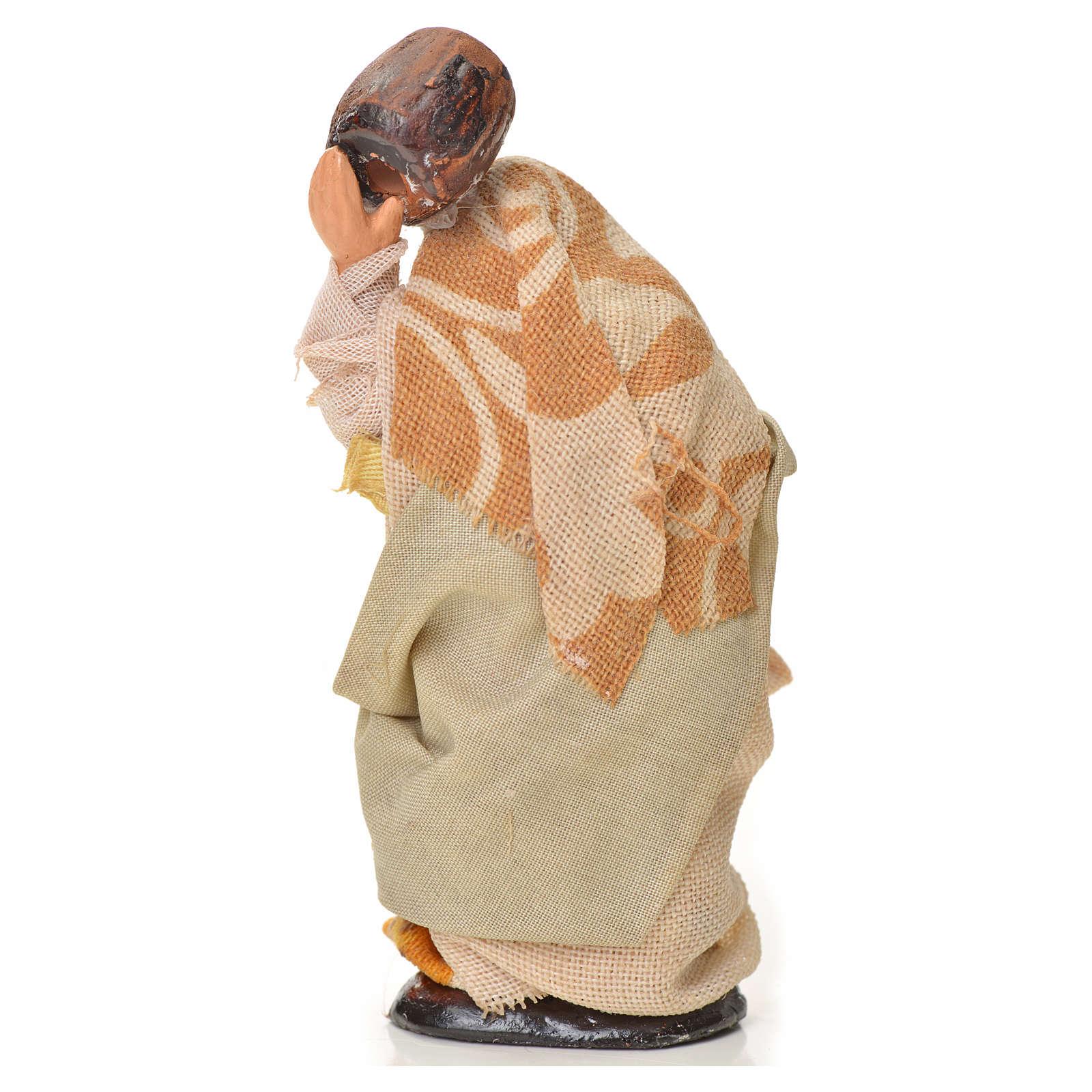 Donna con botte 6 cm presepe napoletano 4