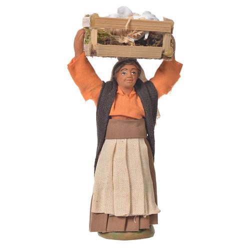 Donna cassetta aglio 10 cm presepe napoletano 1