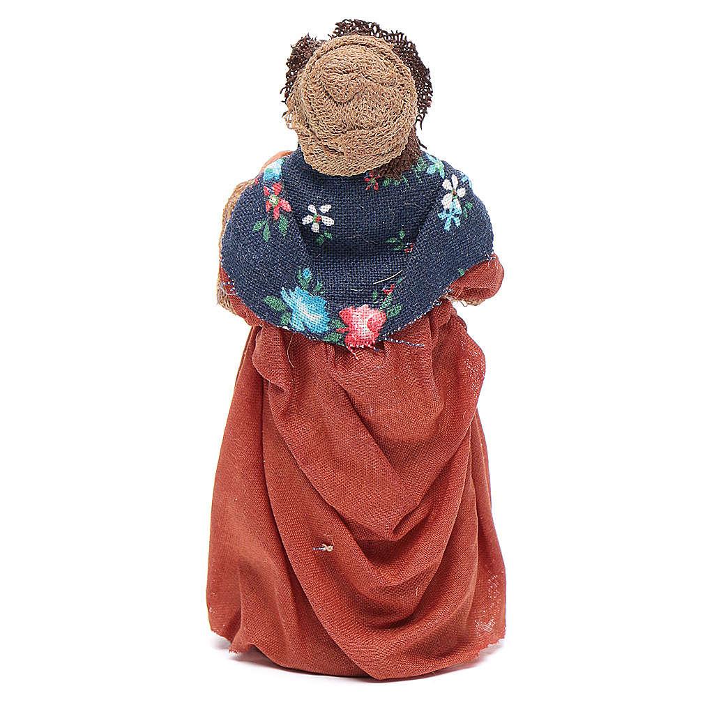 Donna incinta 10 cm presepe napoletano 4