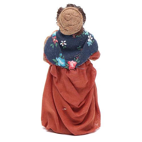 Donna incinta 10 cm presepe napoletano 3